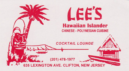 Lee's Hawaiian Islander - Business Card
