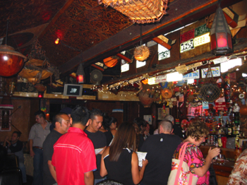 Busy bar at Tiki-Ti