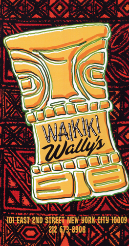 Waikiki Wally's - Menu